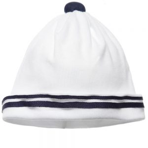 ALETTA Baby Boys White Cotton Jersey Hat
