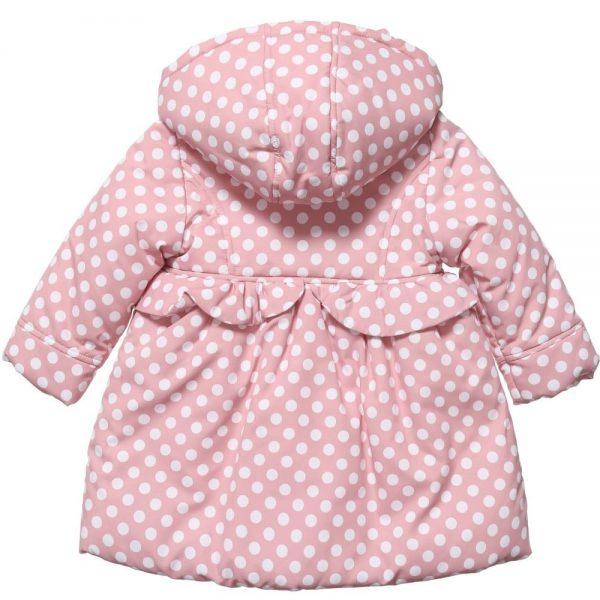 ALETTA Baby Girls Pink Polka Dot Coat 1