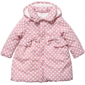 ALETTA Baby Girls Pink Polka Dot Coat