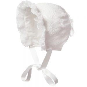 ALETTA Babys Lace Bonnet