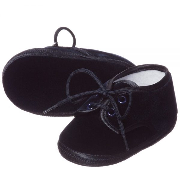ALETTA Blue Velvet Pre-Walker Shoes