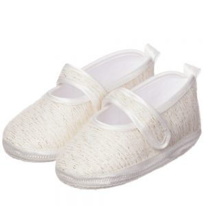 ALETTA Girls Gold Pre-Walker Shoes 1