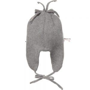 ALETTA Grey Wool & Cashmere Baby Hat 1