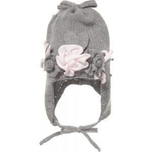 ALETTA Grey Wool & Cashmere Baby Hat