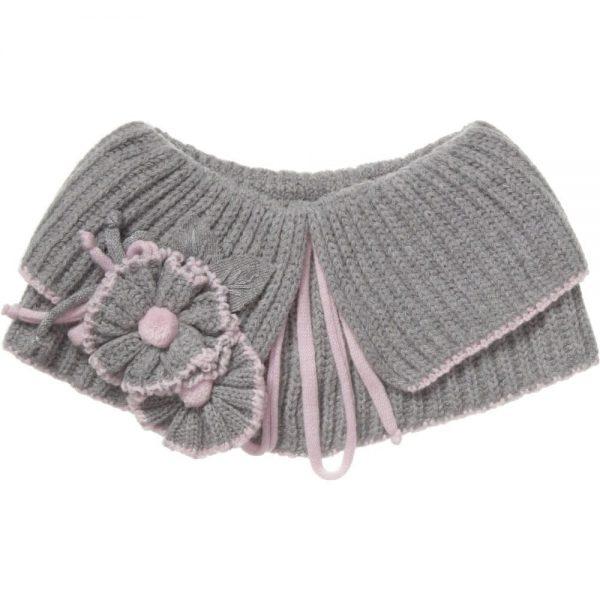 ALETTA Grey Wool & Cashmere Shoulder Shrug