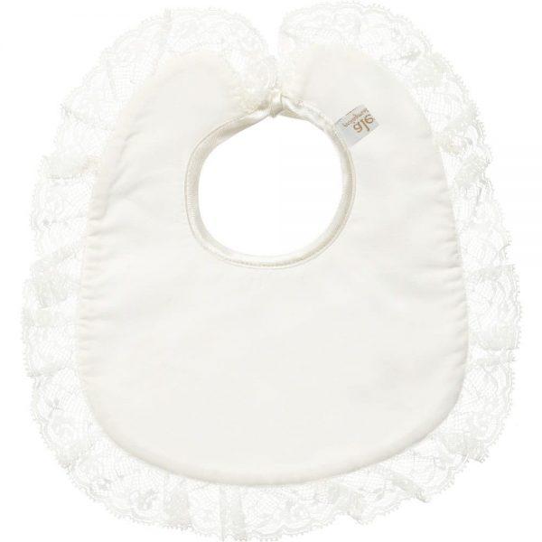ALETTA Ivory Jersey Lace Trim Bib 1