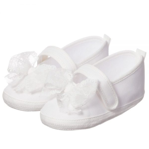 ALETTA Ivory Lace Prewalker Shoes 1