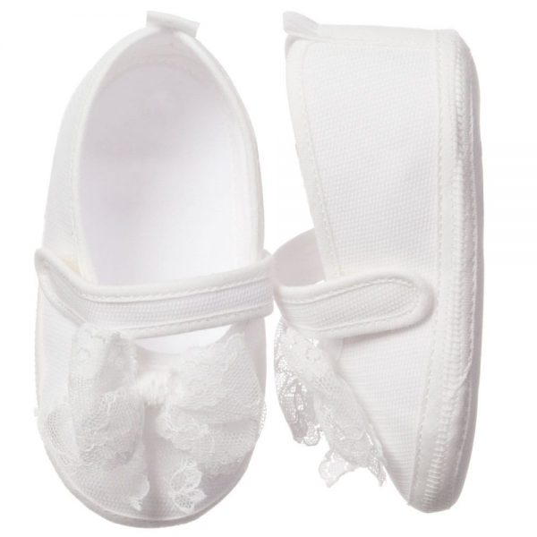 ALETTA Ivory Lace Prewalker Shoes 2