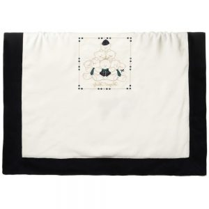 ALETTA Ivory Velour Padded Baby Blanket (78cm)