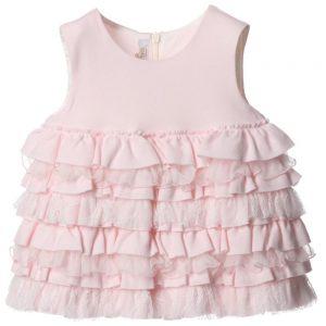 ALETTA Pink Ruffle Dress