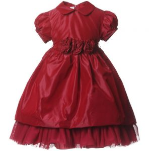 ALETTA Red Taffeta & Tulle Dress