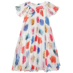 ALETTA Rose Print Chiffon Dress