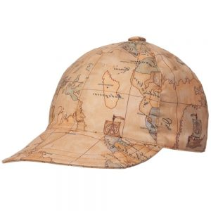 ALVIERO MARTINI Baby Boys Biege Cotton Map Print Cap