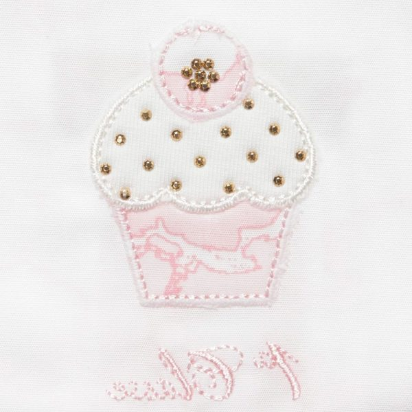 ALVIERO MARTINI Baby Girls Cotton Cupcake Bib 1