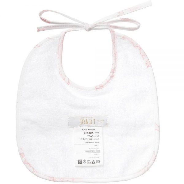 ALVIERO MARTINI Baby Girls Pink Cotton Bib 1