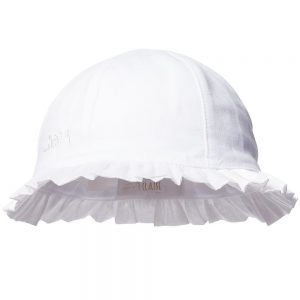 ALVIERO MARTINI Baby Girls White Sun Hat