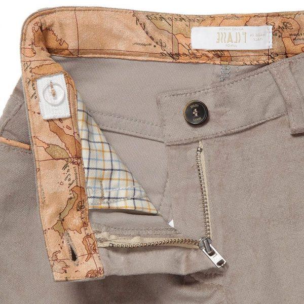 ALVIERO MARTINI Beige Cotton Velvet Trousers 2