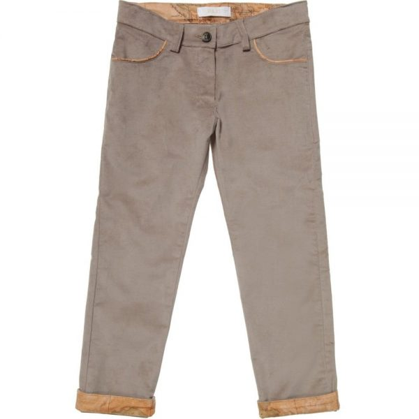 ALVIERO MARTINI Beige Cotton Velvet Trousers