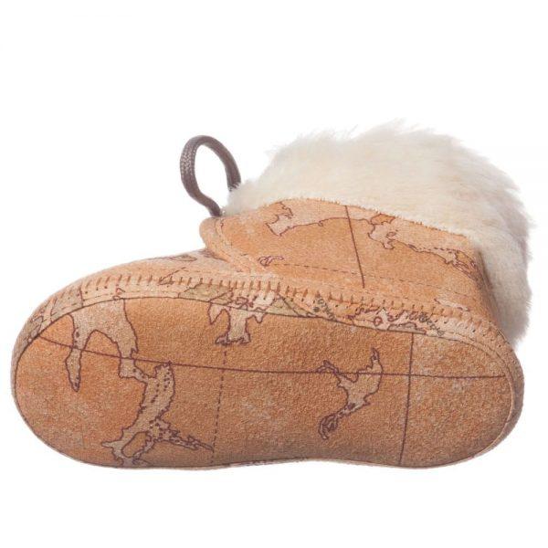 ALVIERO MARTINI Beige Vintage Map Fur Pre-Walker Boots 3