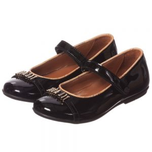 ALVIERO MARTINI Black Patent Velcro Shoes