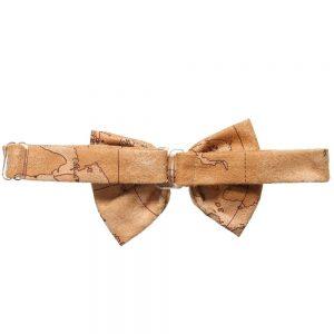 ALVIERO MARTINI Boys Beige Vintage Map Bow Tie 1