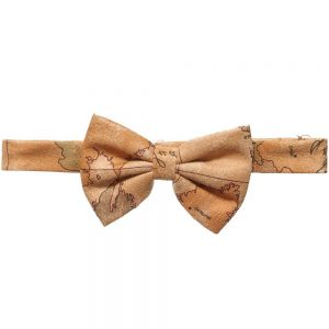 ALVIERO MARTINI Boys Beige Vintage Map Bow Tie