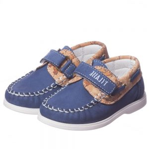 ALVIERO MARTINI Boys Navy Blue Leather Shoes