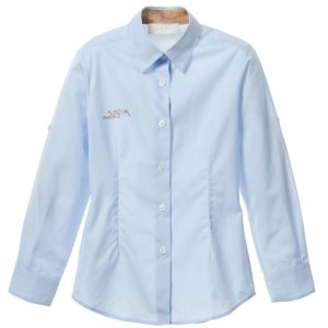 ALVIERO MARTINI Boys Pale Blue Cotton Logo Shirt