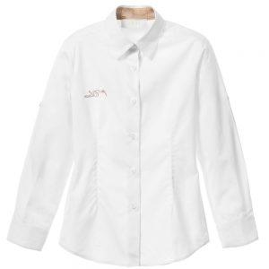 ALVIERO MARTINI Boys White Cotton Logo Shirt