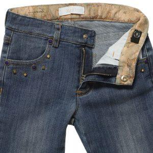 ALVIERO MARTINI Girls Blue Denim Jeans 1