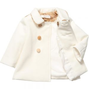 ALVIERO MARTINI Girls Ivory Padded Coat 1