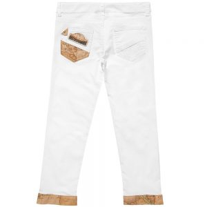 ALVIERO MARTINI Girls White Cotton Trousers 1