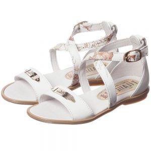 ALVIERO MARTINI Girls White Leather Sandals