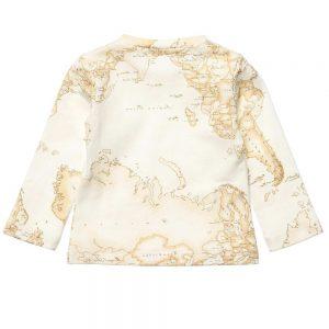 ALVIERO MARTINI Ivory Cotton Vintage Map Top 1