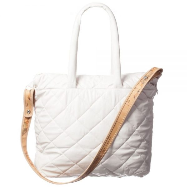 ALVIERO MARTINI Ivory Quilted Baby Bag (45cm)