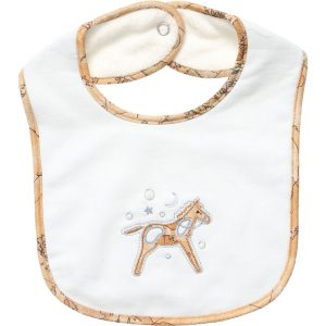 ALVIERO MARTINI Pale Blue Cotton Baby Bib