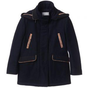 ALVIERO MARTINI Unisex Navy Blue Wool Coat