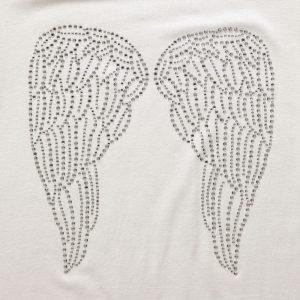 ANGEL'S FACE Girls Ivory Jersey Diamante T-Shirt 1