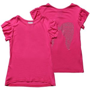 ANGEL'S FACE Girls Pink Jersey Diamante T-Shirt
