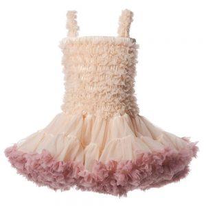 ANGEL'S FACE Ivory & Pink Chiffon Frilled Tutu Dress