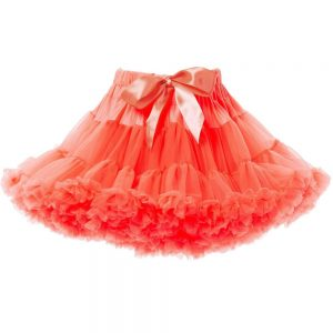 ANGEL'S FACE Neon Orange Chiffon Frilled Tutu Skirt
