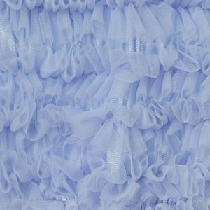 ANGEL'S FACE Pale Blue Tulle Net Frilled Top 1