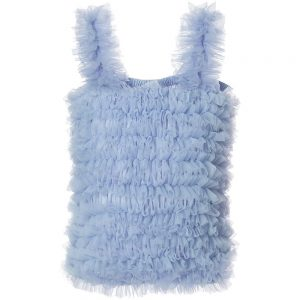 ANGEL'S FACE Pale Blue Tulle Net Frilled Top