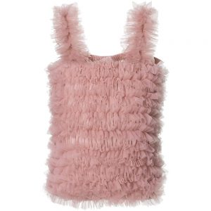 ANGEL'S FACE Pink Tulle Net Frilled Top
