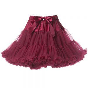 ANGEL'S FACE Ruby Red Chiffon Frilled Tutu Skirt