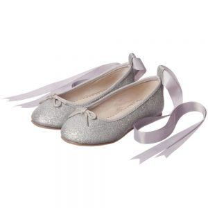 ANGEL'S FACE Silver Glitter Ballet Pumps