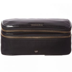 ANYA HINDMARCH Black Nylon 'Jewellery Pouch' Case (21cm)