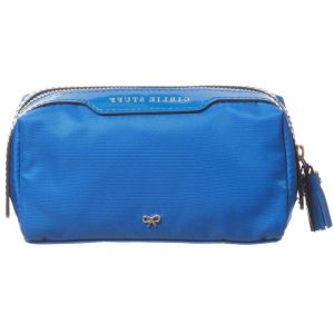 ANYA HINDMARCH Blue 'Girlie Stuff' Wash Bag (15cm)