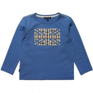 AQUASCUTUM JUNIOR Boys Blue Union Jack T-Shirt