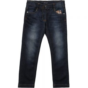AQUASCUTUM JUNIOR Boys Denim Jeans with Check Trims